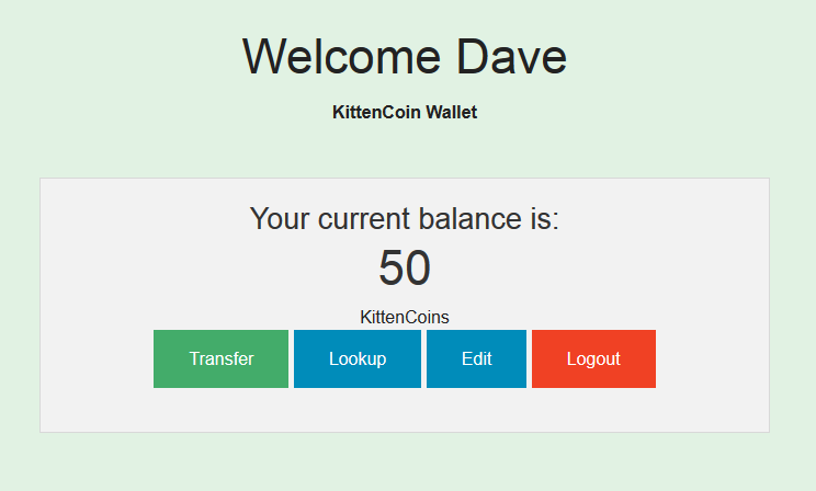 Kitten Coin home page